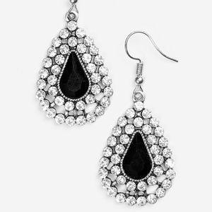 Diamond Dazzle - Black earrings